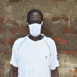 The Water Project: Busichula Community, Marko Spring -  Simon Mulongo Wearing His Mask