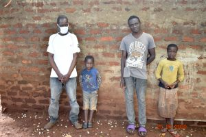 The Water Project:  Simon Mulongo With His Son And Grandchildren