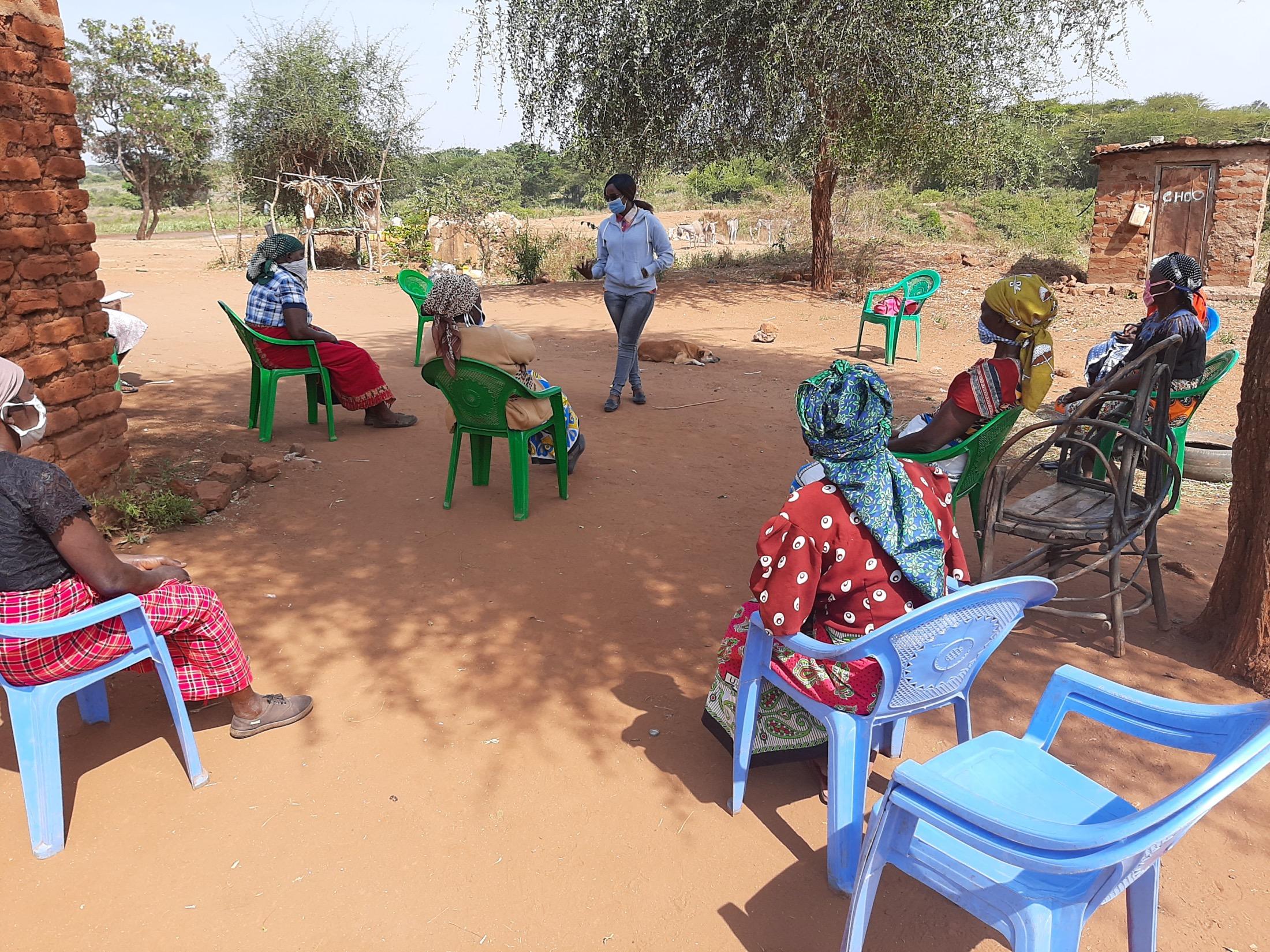 The Water Project : covid19-kenya19222-community-members-at-covid-training