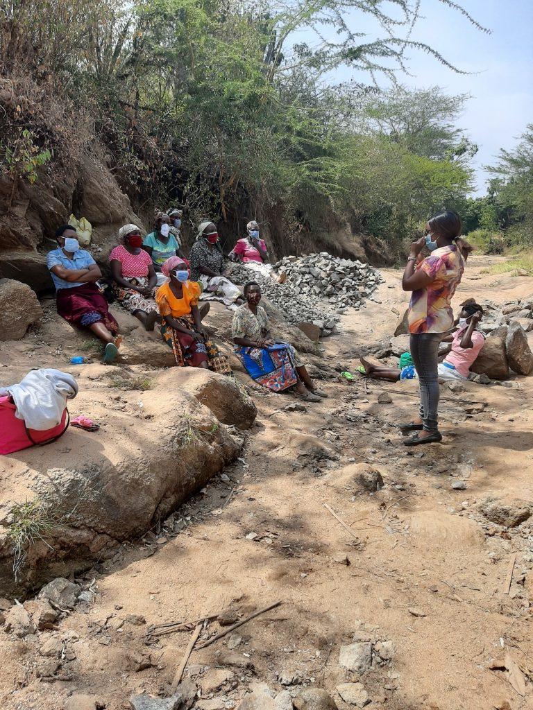 The Water Project : covid19-kenya19224-community-members-at-covid-training