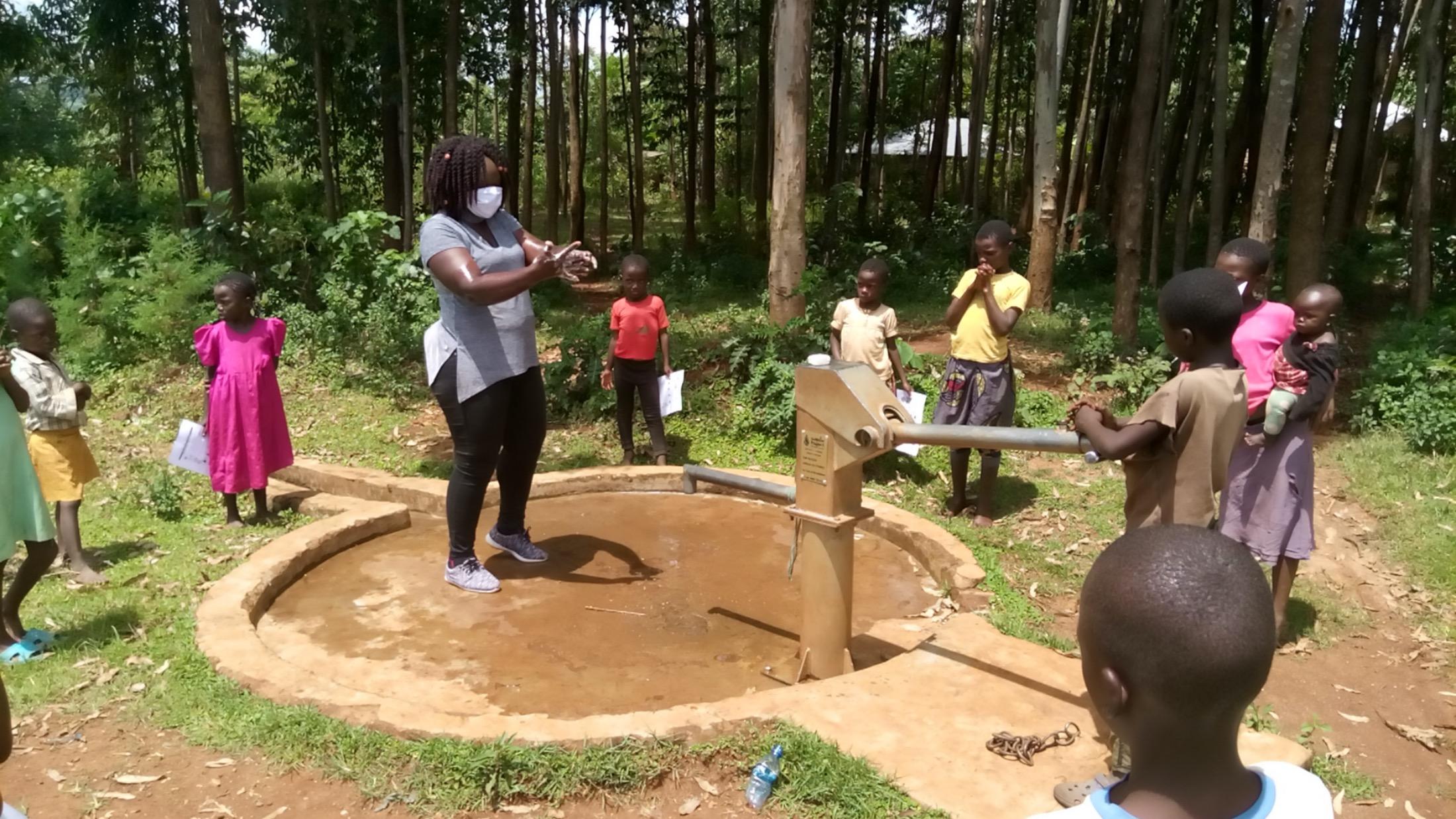 The Water Project : covid19-kenya4333-handwashing-demonstration