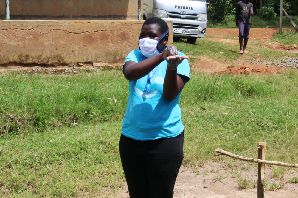 The Water Project : covid19-kenya4415-handwashing-demonstration