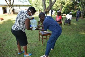 The Water Project:  Setting Up A Handwashing Container