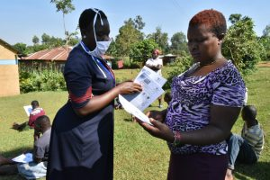 The Water Project:  Distributing Handouts At The Training