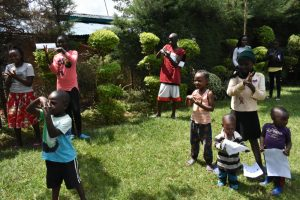 The Water Project:  Community Members Follow Handwashing Steps