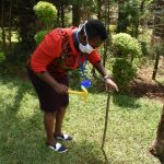 The Water Project: Nyira Community, Ondiek Spring -  Setting Up Handwashing Stand