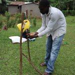The Water Project: Murumba Community, Muyokani Spring -  A Gent Washing His Hands