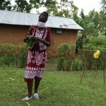 The Water Project: Murumba Community, Muyokani Spring -  Mrs Wagaka Teaches Mask Making