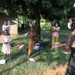 The Water Project: Bukhakunga Community, Indiatsi Omukitsa Spring -  Conducting Handwashing Training