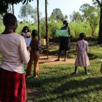 The Water Project: Bukhakunga Community, Indiatsi Omukitsa Spring -  Mask Making Training