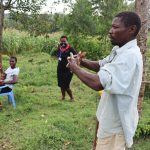 The Water Project: Mumuli Community, Shalolwa Spring -  A Gent Demonstrates His Handwashing Prowess