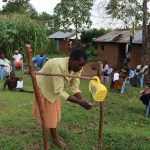 The Water Project: Mumuli Community, Shalolwa Spring -  She Did The Ten Steps So Well