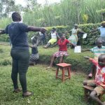The Water Project: Shikoti Community, Amboka Spring -  Conducting The Social Distancing Test