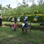 The Water Project: Shikoti Community, Amboka Spring -  Ms Karen Leading The Session