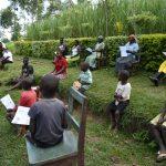 The Water Project: Shikoti Community, Amboka Spring -  Ms Stella Demonstrating How To Make A Mask