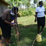The Water Project: Shikoti Community, Amboka Spring -  Building A Tippy Tap Handwashing Station