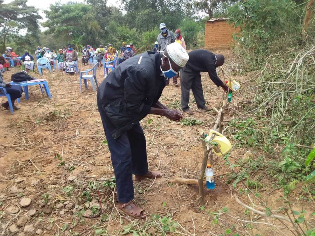 The Water Project : covid19-kenya4785-applying-soap