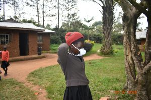The Water Project:  Mercy Ogonga Putting On A Mask