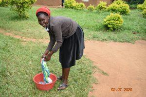 The Water Project:  Mercy Ogonga Washing Using Water Fromasman Sumba Spring