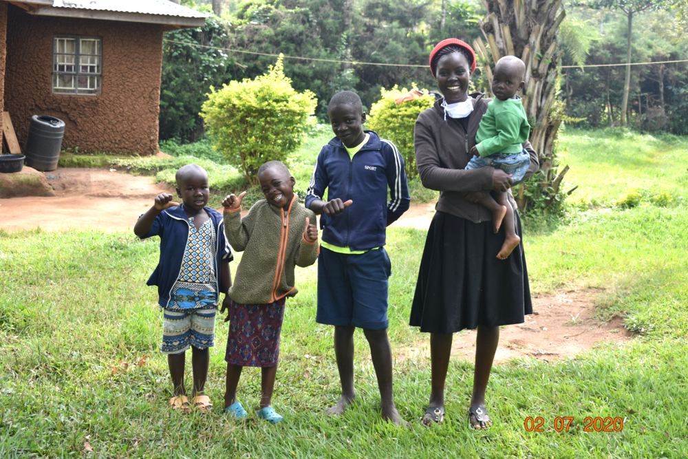 The Water Project : covid19kenya-19182-mercy-ogonga-with-her-children