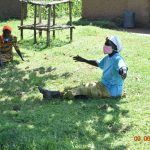 The Water Project: Ataku Community, Ngache Spring -  Catherine Actively Participates At Training