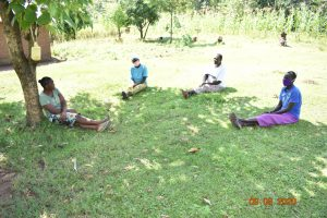 The Water Project:  Catherine And Others Observe Social Distancing At Training