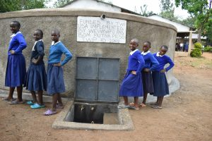 The Water Project:  Girls Posing At The Water Point