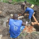 The Water Project: Mahira Community, Litinyi Spring -  Wall Construction