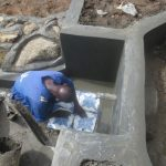 The Water Project: Mahira Community, Litinyi Spring -  Tile Setting