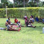 The Water Project: Harambee Community, Elijah Kwalanda Spring -  Trainer Wilson Emphasizes Social Distancing