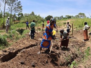 The Water Project:  Community Members Levelling The Site