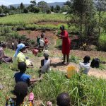 The Water Project: Mukhuyu Community, Chisombe Spring -  Social Distancing At The Training