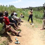 The Water Project: Mukhuyu Community, Chisombe Spring -  Solar Disinfection Demonstration