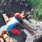 The Water Project: Mukhuyu Community, Chisombe Spring -  Wall Measurements
