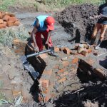 The Water Project: Mukhuyu Community, Chisombe Spring -  Pipe Setting