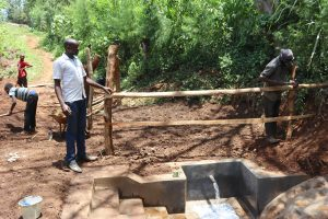 The Water Project:  Field Officer Wilson Supervises Fencing