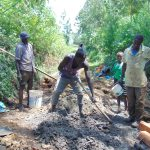 The Water Project: Harambee Community, Elijah Kwalanda Spring -  Cement And Concrete Works