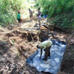 The Water Project: Harambee Community, Elijah Kwalanda Spring -  Foundation Laying