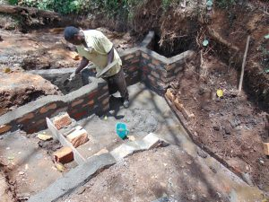 The Water Project:  Inside Plastering Of Walls Of Escape Channels