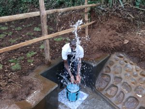 The Water Project:  Lead Field Officer Wilson Celebrates Clean Water