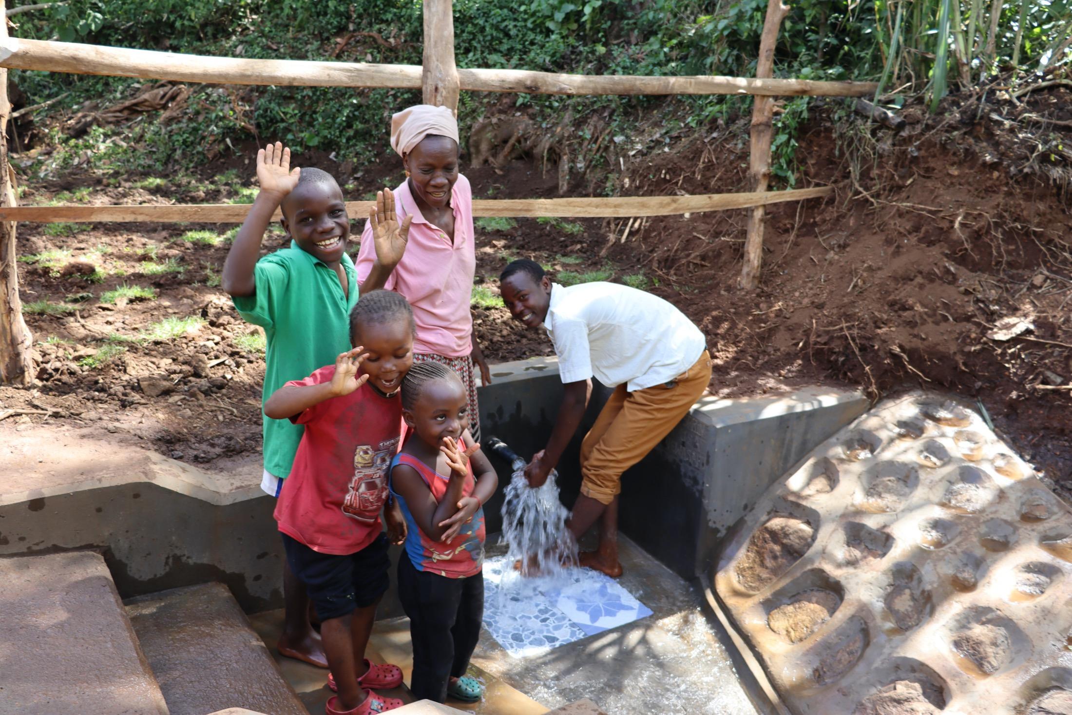 The Water Project : kenya20167-community-members-posing-2