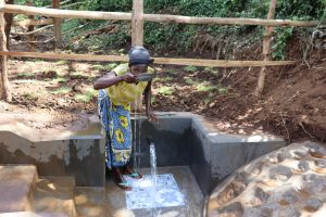The Water Project:  Water User Drinking Water
