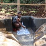 The Water Project: Harambee Community, Elijah Kwalanda Spring -  Venezer Smilling For Water
