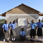 The Water Project: Malinda Secondary School -  Girls Posing At The Finished Latrines