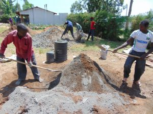 The Water Project:  Preparing Sand For Construction