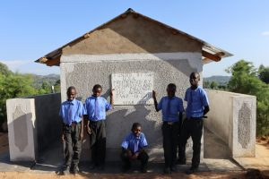 The Water Project:  Boys Posing At The Finished Latrines