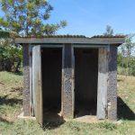 The Water Project: Ivakale Primary School & Community - Rain Tank 2 -  Latrine Block With Missing Door