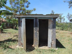 The Water Project:  Latrine Block With Missing Door