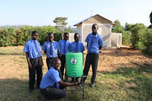 The Water Project:  Students With A New Handwashing Station