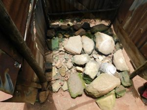 The Water Project:  Stone Floor Of The Bathing Shelter